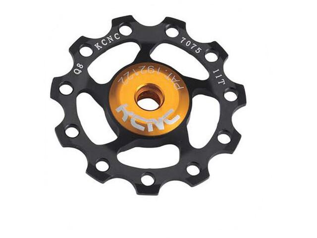 KCNC Jockey Wheel 13 hammasta SS laakeri, black